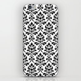 Feuille Damask Pattern Black on White iPhone Skin