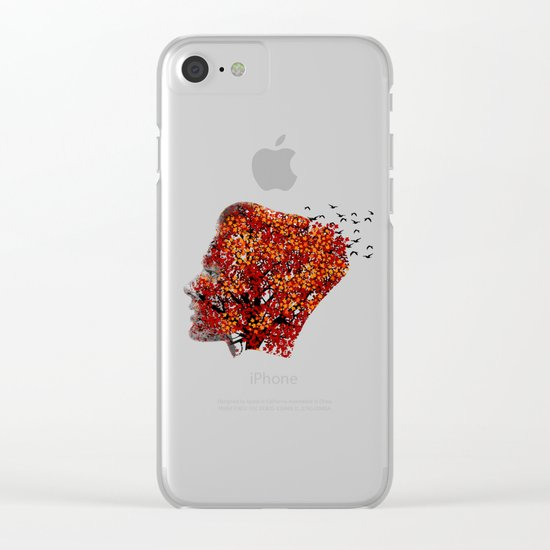 Nature girl Clear iPhone Case