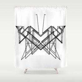Butterfly without back Shower Curtain