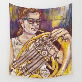 French Horn 2 Wall Tapestry