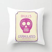 sugar skulls Throw Pillows featuring Sugar Skulls by Deesign