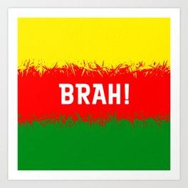 Jamaican Design 2 - brah Art Print