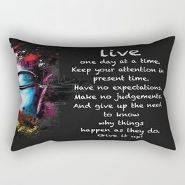 Live One Day At A Time Rectangular Pillow