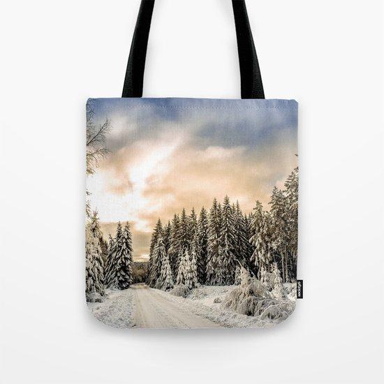 Winter Road #photography #society6 Tote Bag
