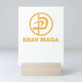 Krav Maga Fighter Selfe Defense Martial Arts Mini Art Print