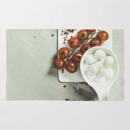 Italian antipasti snack for wine Rug