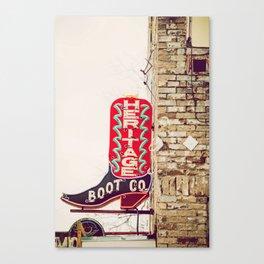 Downtown Austin Texas Neon Canvas Print