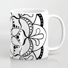 Mandala I - Black and White Coffee Mug