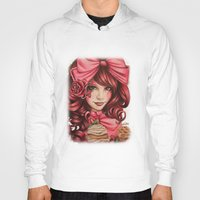 strawberry Hoodies featuring Strawberry  by Sheena Pike ART
