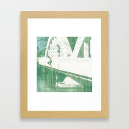 Bridge Jumping Framed Art Print
