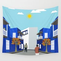 football Wall Tapestries featuring Street Football  by Design4u Studio