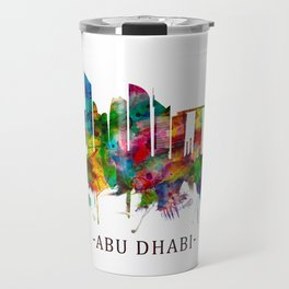 Abu Dhabi UAE Skyline Travel Mug