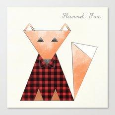 Flannel Fox Canvas Print