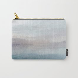 Light Gray, Mauve, Turquoise Aqua Blue Print Modern Wall Art, Abstract Painting Carry-All Pouch