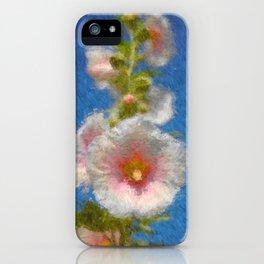 Summer Hollyhocks iPhone Case