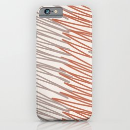 Scribbled Impatience 4   Neutral Colors Pattern iPhone Case
