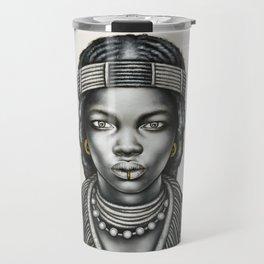 Tribal Girl withGold Foil Jewellery Travel Mug