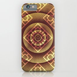 Lighten square throw an abstract wood texture iPhone Case