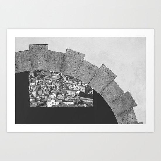 Napoli città nascosta Art Print