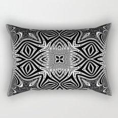 Black & White Tribal Symmetry Rectangular Pillow