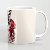 tiger Mugs featuring White Tiger by Felicia Cirstea
