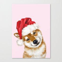 Christmas Shiba Inu Canvas Print