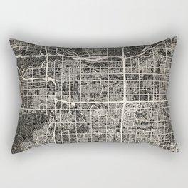 Tempe map Arizona Ink lines 2 Rectangular Pillow