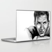 frank sinatra Laptop & iPad Skins featuring Frank Sinatra by Robin Ewers