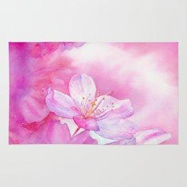 Cherry Blossom - Spring Delight - Sakura, Hanami - Art Watercolor Painting by Suisai Genki Rug