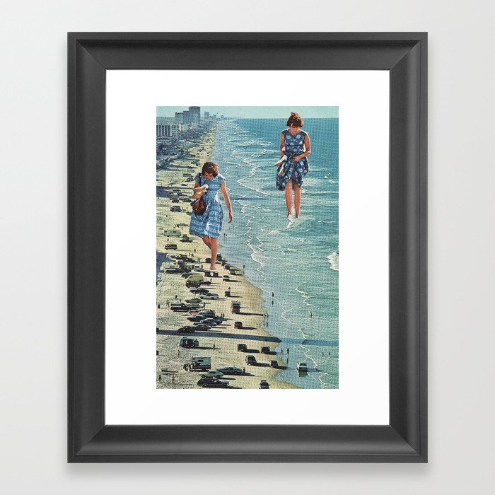 Walk on the Beach Gerahmter Kunstdruck