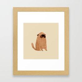 Brown Doggy Framed Art Print