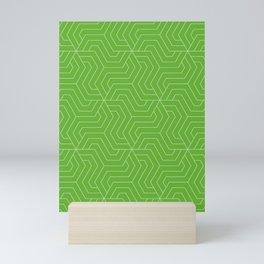 Green (RYB) - green - Modern Vector Seamless Pattern Mini Art Print