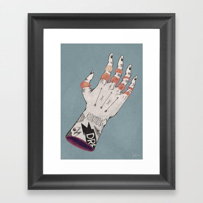 Right Handed Power Glove Framed Art Print