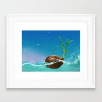 coconut wishes Framed Art Prints featuring Coconut by Azot