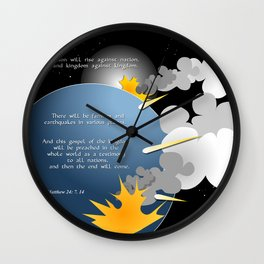 Nation Will Rise Against Nation Wall Clock