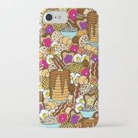 breakfast iPhone & iPod Cases featuring Breakfast by Julia Emiliani