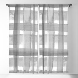 Bold Stripes Black and White Blackout Curtain