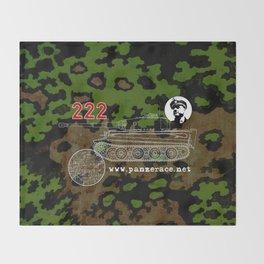 Michael Wittmann Panzer Ace 222 Villers Bocage Camo Throw Blanket