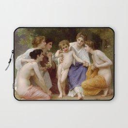 """William-Adolphe Bouguereau """"Admiration"""" Laptop Sleeve"""
