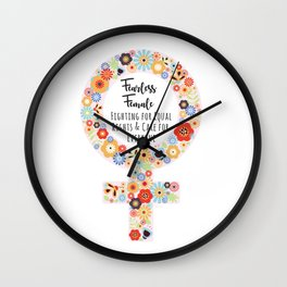 Fearless Female Wall Clock