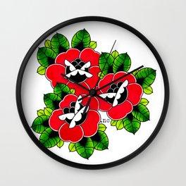 Traditional Roses  Wall Clock