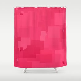 Honeysuckle Square Pixel Color Accent Shower Curtain
