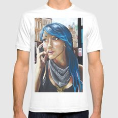 THE GIRL FROM THE BLUE LAGOON SMALL White Mens Fitted Tee