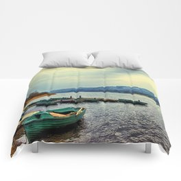 Boats on Esthwaite Comforters