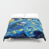 fandom Duvet Covers featuring Blue Phone box Starry the night iPhone 4 4s 5 5c 6, pillow case, mugs and tshirt by Three Second