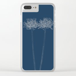 Agapanthus Blueprint Clear iPhone Case