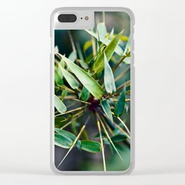 JUICY BAMBOO Clear iPhone Case