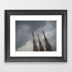 Three Statues on The Duomo Framed Art Print