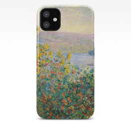 Flower Beds at Vétheuil by Claude Monet 1881 iPhone Case
