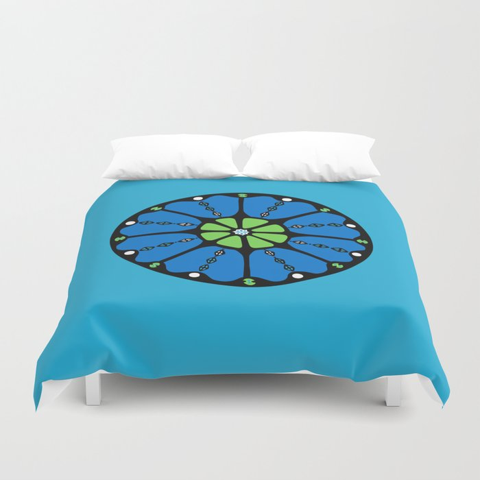 Dot #4 by lalalamonique Duvet Cover